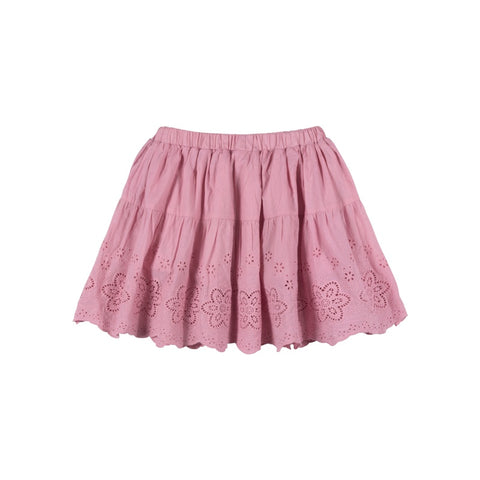 Gathered Lace Skirt