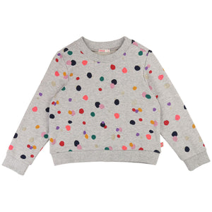Colourful polka dot sweat