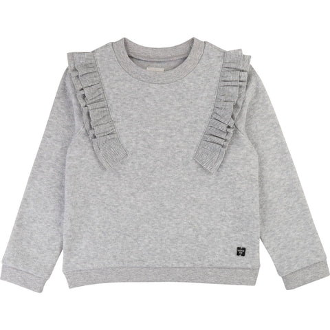 Grey Frilled Sweat