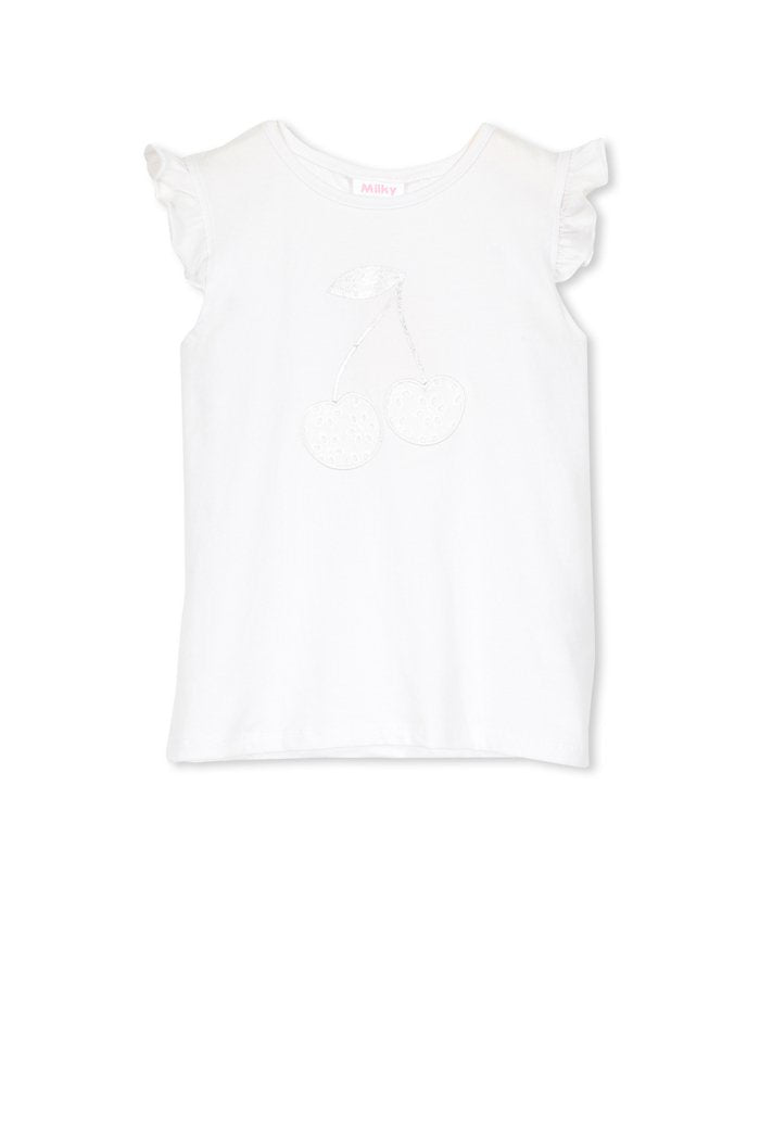 White Applique Tee