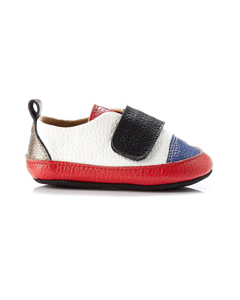 Jude Leather Sneaker - White Red Multi