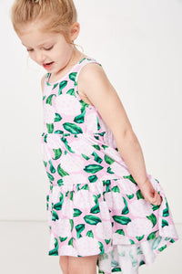 Hydrangea Dress - Candy Pink/Green