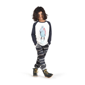 Long Sleeve Raglan T-Shirt - Skater