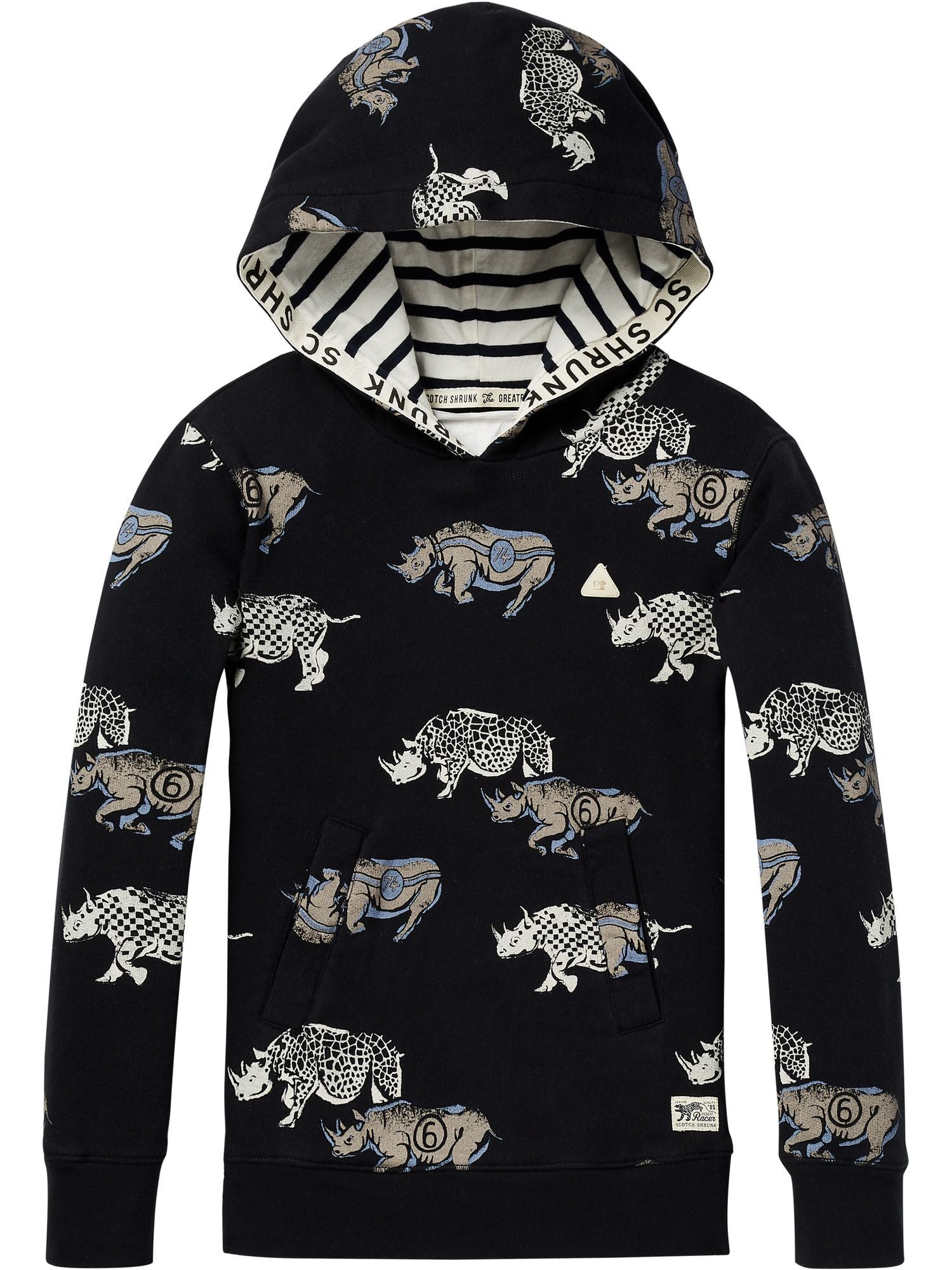 Allover Printed Hoody