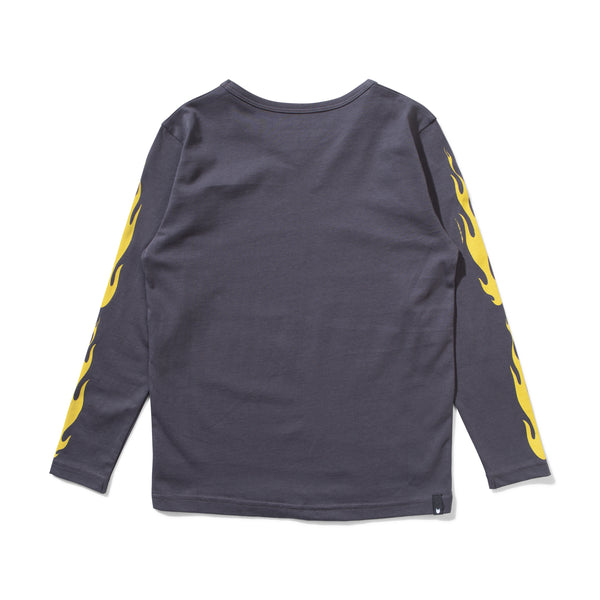 Flames L/S Tee Charcoal