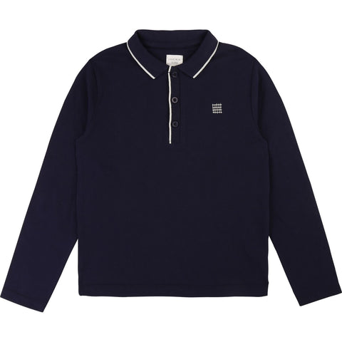 Navy Longsleeved Polo