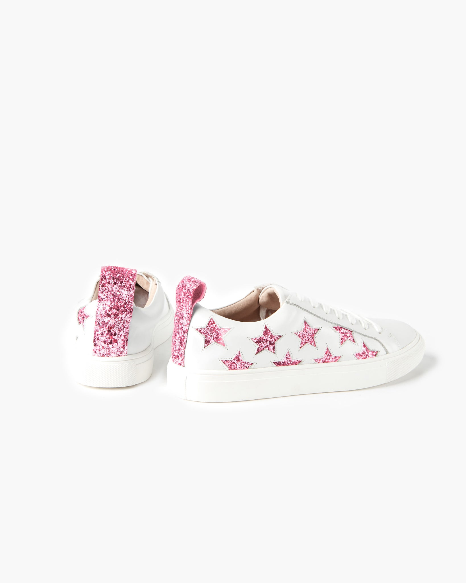 Haven Mini Sneaker - Pink Glitter Star