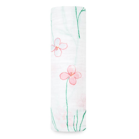 Forest Fantasy Flowers swaddle