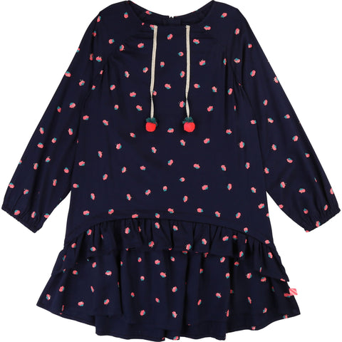 Navy strawberry dress