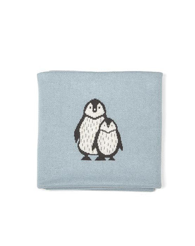 Baby Blanket - Penguin Duo Sky