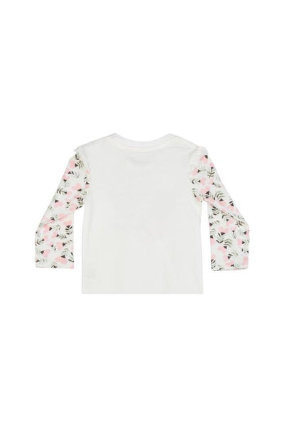 T-Shirt with Shoulder Frills - Heart