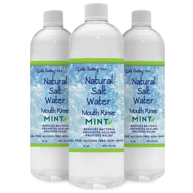 3 Pack, NATURAL HIMALAYAN SALT WATER RINSE, MINT