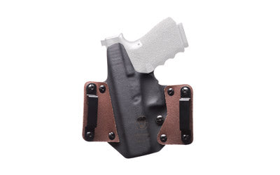 BLACKPOINT LEATHER WING OWB HOLSTER FOR GLOCK 19 RH COY