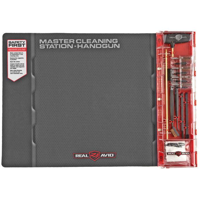 Real Avid, Master Cleaning Station, Handgun Cleaning Kit, For .22, .357, .38, .40, .45, 9mm
