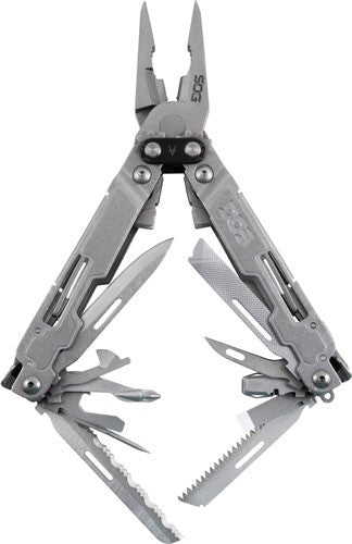 SOG Multi-Tool PowerAccess Deluxe Stonewash W/Sheath & Hex Bit Kit