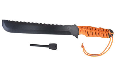 UST PARACUDA MACHETE FIRESTARTER ORANGE