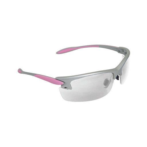 Radians, Glasses, Silver and Pink Frame, Clear Lens
