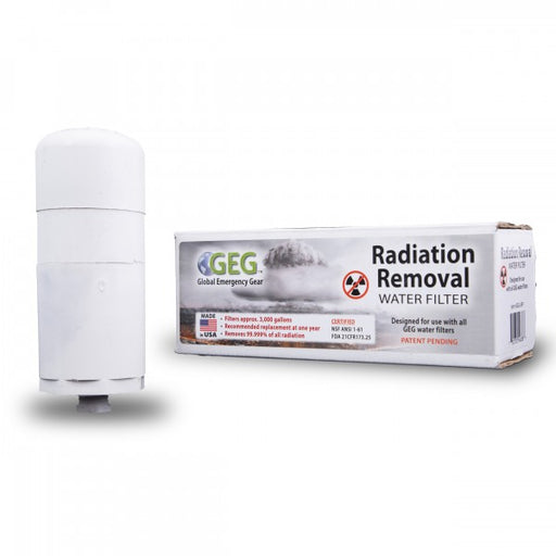 Radiation Removal Water Filter Kit
