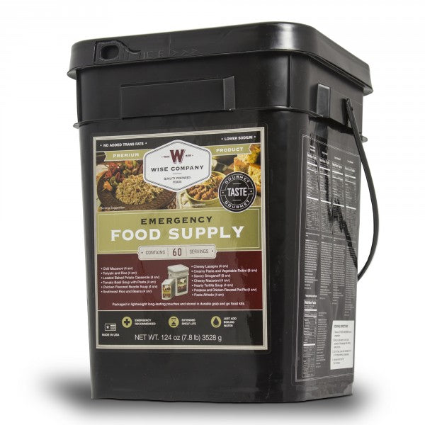 Grab and Go - Emergency Freeze Dried Entree Bucket - 60 Serving