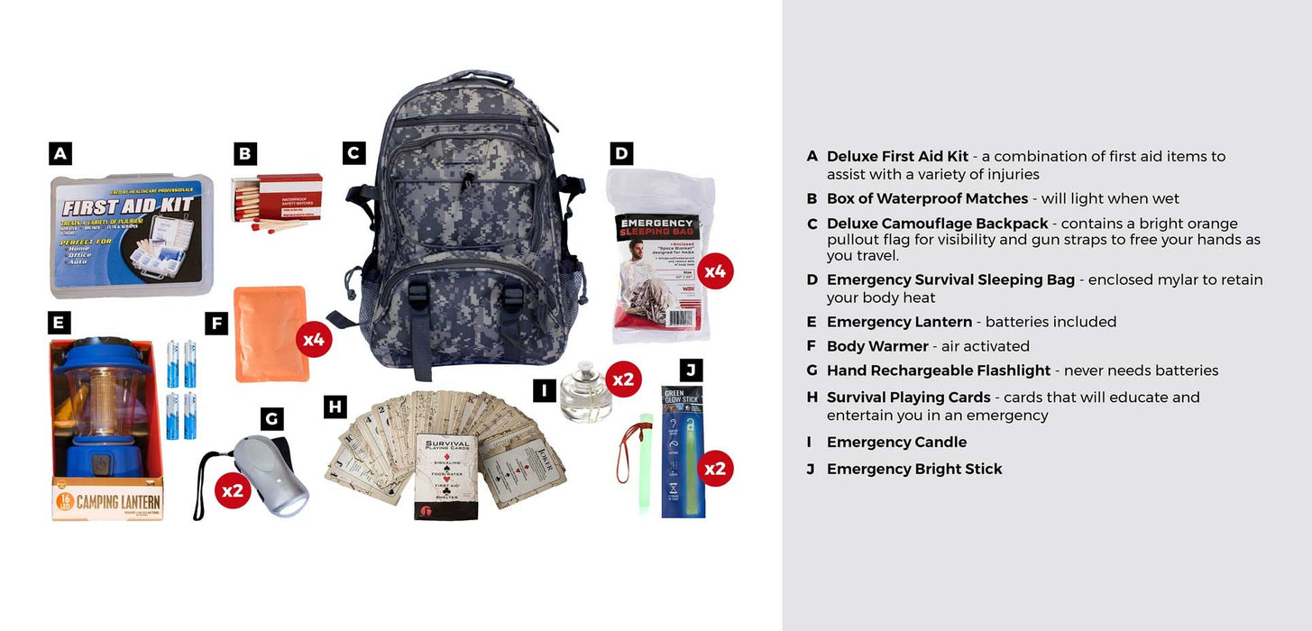 Family Blackout Kit - Camo Backpack