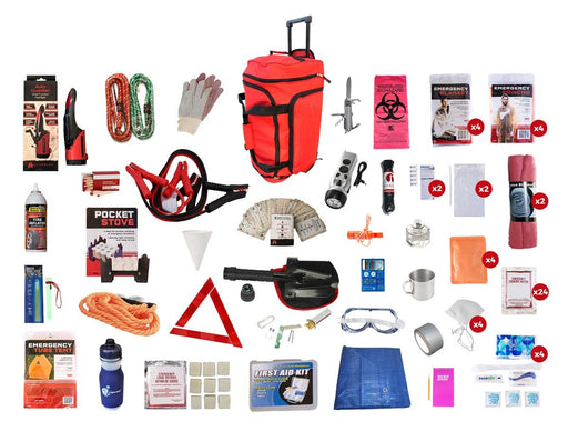 Family Road Kit - Red Roller Bag