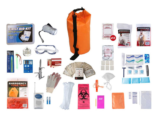 1 Person Elite Survival Kit (72+ Hours) - Waterproof Dry Bag