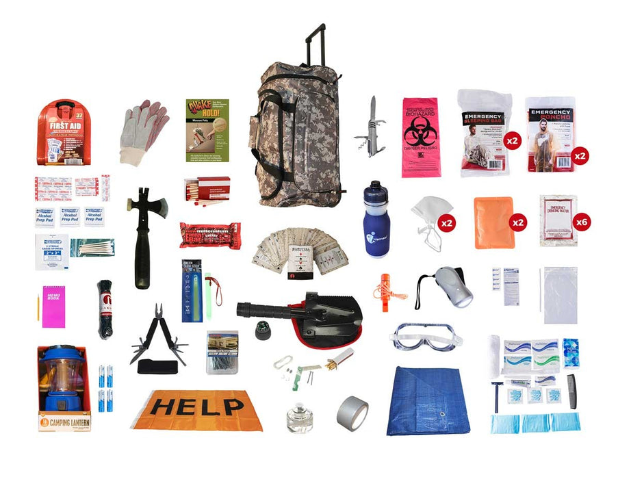Tornado Emergency Kit - Camo Roller Bag