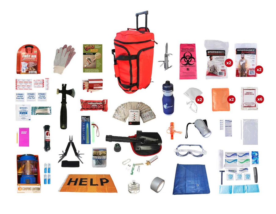 Tornado Emergency Kit - Red Roller Bag