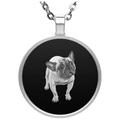 FUNNY ENGLISH BULLDOG Circle Necklace