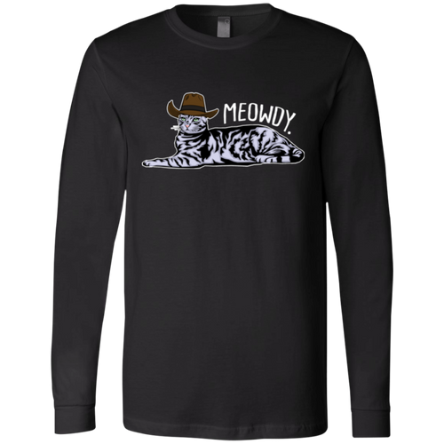 MEOWDY TEXAS CAT Men's Jersey LS T-Shirt