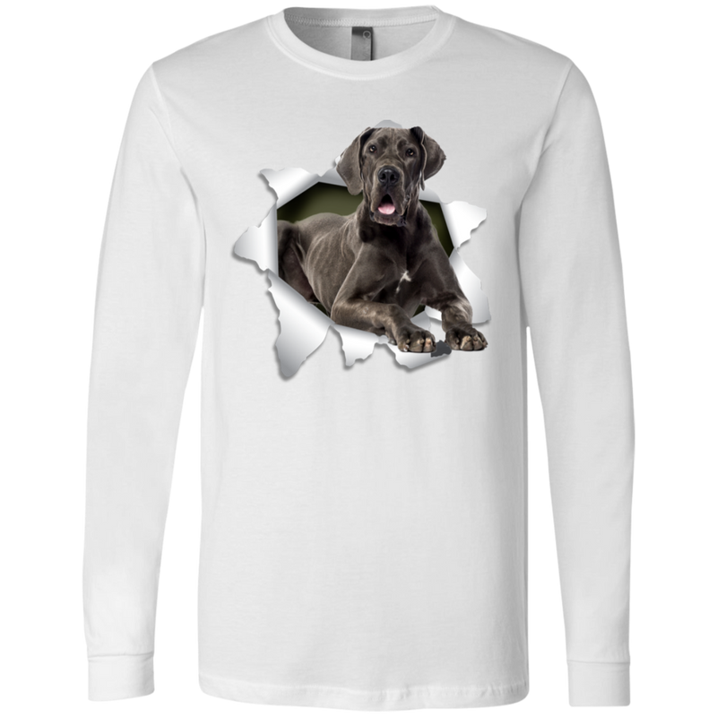 GREAT DANE 3D Men's Jersey LS T-Shirt