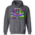 RAINBOW MUSIC CAT Pullover Hoodie 8 oz.