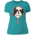 SHIH TZU ZIP-DOWN Ladies' Boyfriend T-Shirt