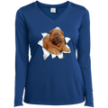 CHOW CHOW 3D Ladies' LS Performance V-Neck T-Shirt