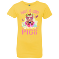 JUST A GIRL WHO LOVES PIGS Girls' Princess T-Shirt