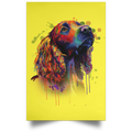 HAND PAINTED COCKER SPANIEL Portrait Poster