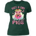 JUST A GIRL WHO LOVES PIGS Ladies' Boyfriend T-Shirt