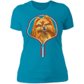 POMERANIAN ZIP-UP Ladies' Boyfriend T-Shirt