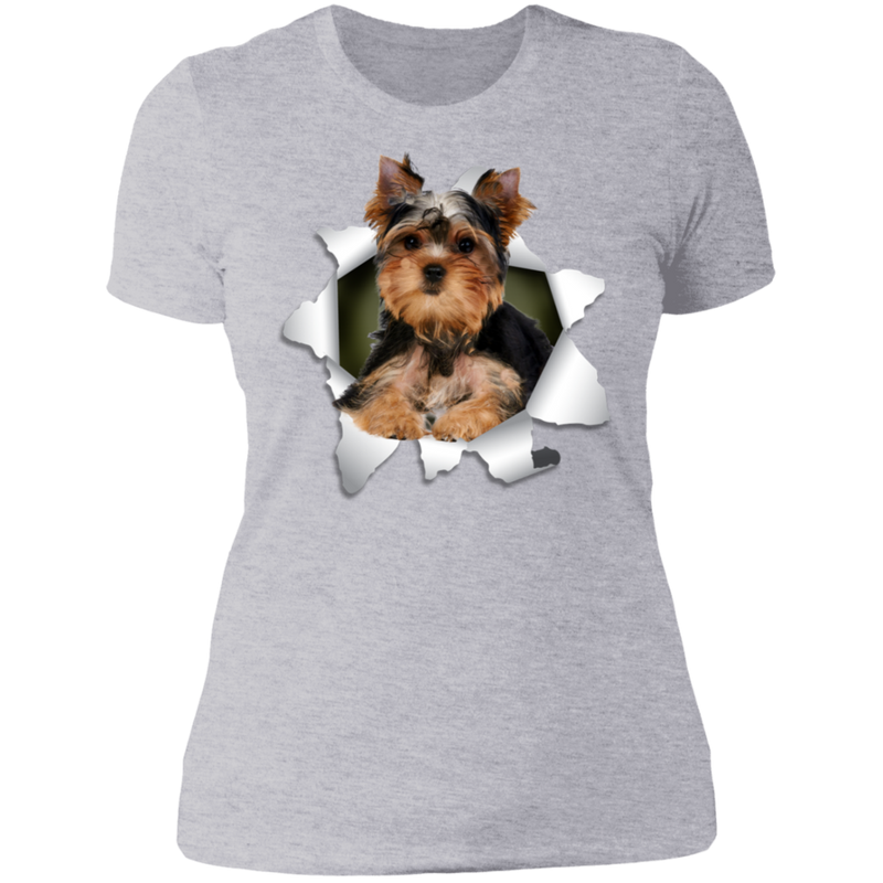 YORKSHIRE TERRIER 3D Ladies' Boyfriend T-Shirt