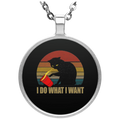 I DO WHAT I WANT Circle Necklace