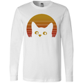 VINTAGE EIGHTIES STYLE CAT Men's Jersey LS T-Shirt