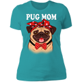 PUG MOM Ladies' Boyfriend T-Shirt