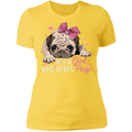 JUST A GIRL WHO LOVES PUGS Ladies' Boyfriend T-Shirt