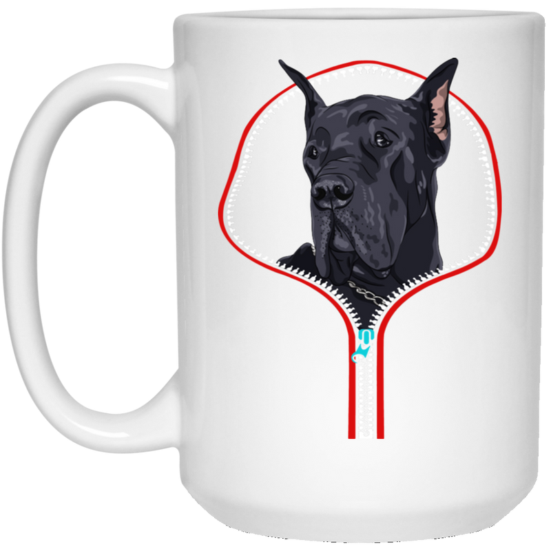 GREAT DANE ZIP-DOWN 15 oz. White Mug