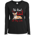 THE REAL LOVE OF MY LIFE Ladies' LS Performance V-Neck T-Shirt