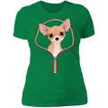 CHIHUAHUA ZIP-DOWN Ladies' Boyfriend T-Shirt