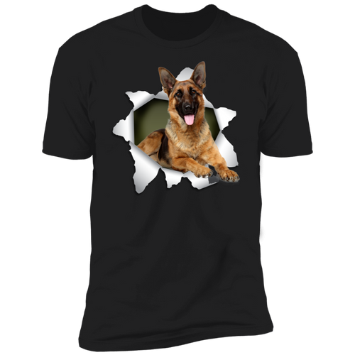 GERMAN SHEPHERD 3D Premium Short Sleeve T-Shirt