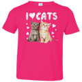 I LOVE CATS Toddler Jersey T-Shirt