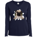PUG 3D Ladies' LS Performance V-Neck T-Shirt