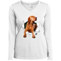 VIZSLA 3D Ladies' LS Performance V-Neck T-Shirt